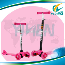 New T bar 3 wheel kick scooter for kids, children kick scooter balanced bicycle