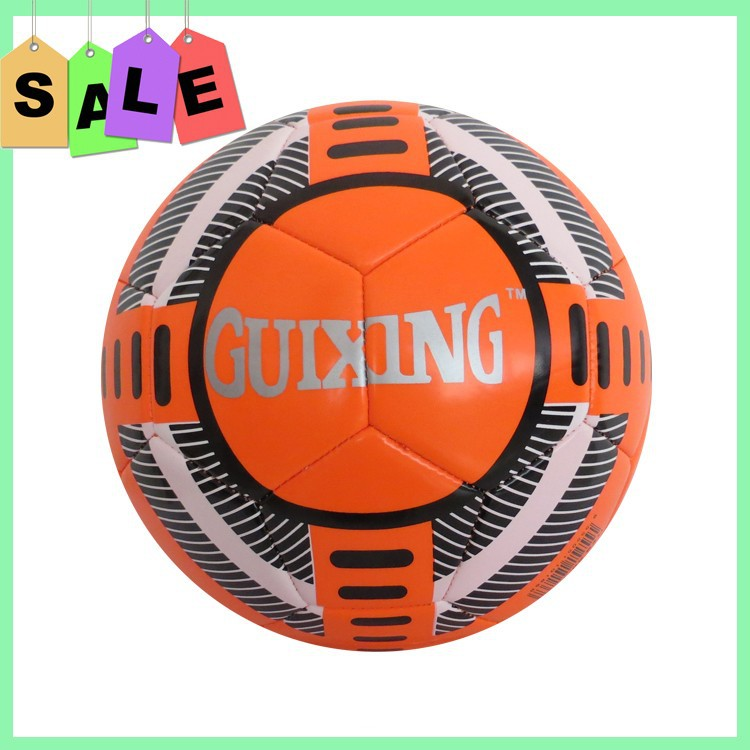 Machine sewn soccer with promotional price