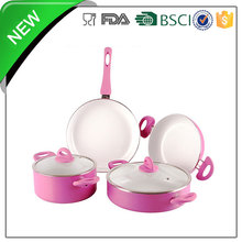 LFGB, FDA, CE/EU certification 6pcs plastic casseroles hot pot