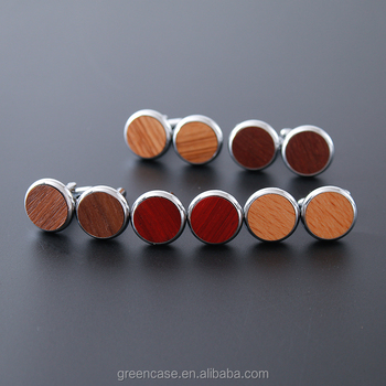 Fashion and Elegant 5 Colors 100% Real Wood Cuff Links with Hot Sale Design for Man and Woman