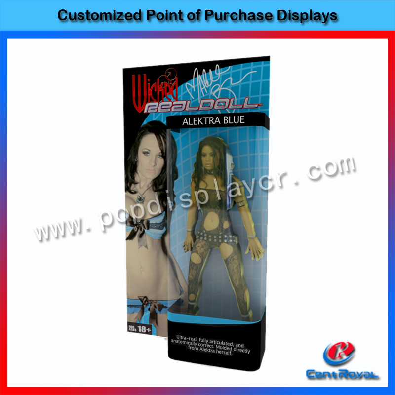 New design high quality acrylic wall mounted advertising display stand