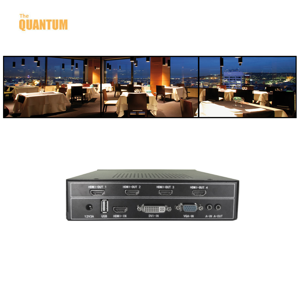 China supplier 1x3 4 hdmi video wall controller for tv application