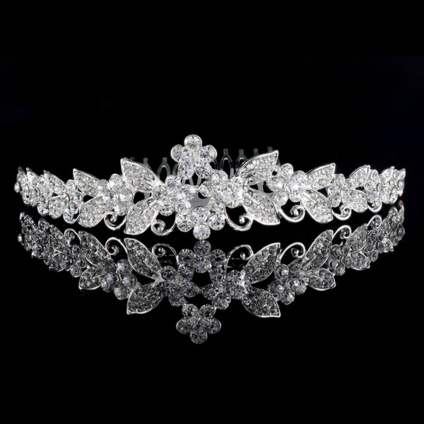 Fashion crystal princess headband rhinestone pageant tiaras crowns for brides Girls