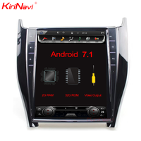 "Kirinavi tesla style Vertical screen android 7.1 12.1"" car DVD for toyota harrier in car video gps navigation"
