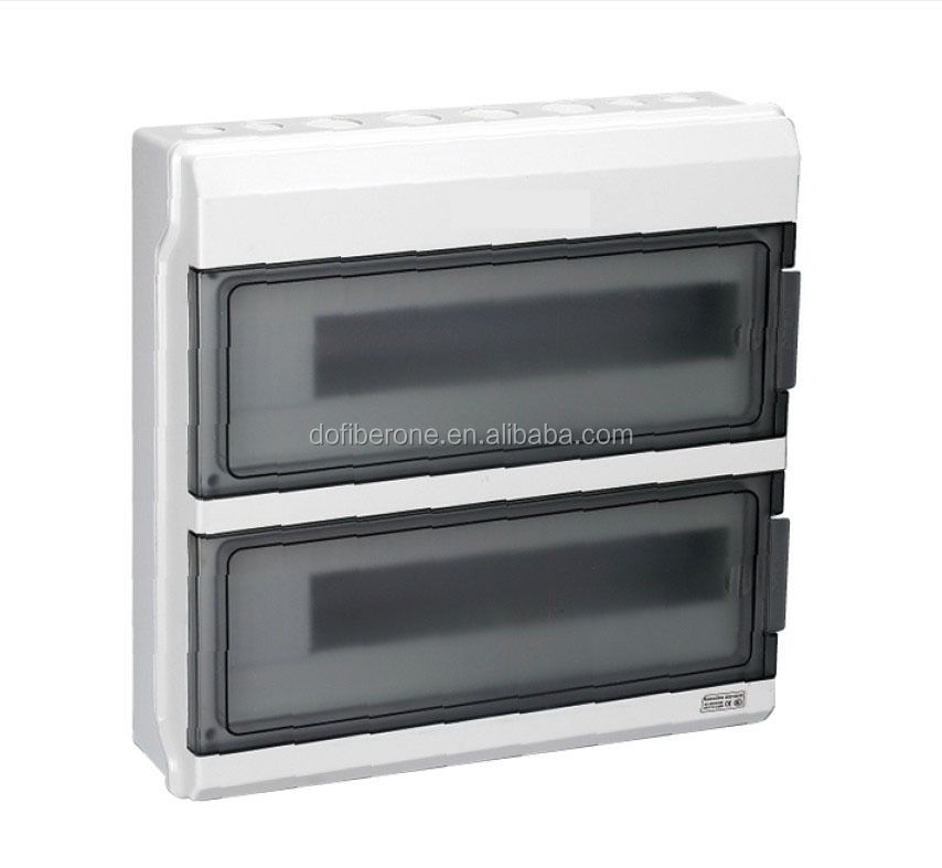 Transparent door plastic cover flush mounted electrical mcb power distribution panel box