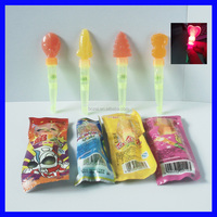 flash light stick lollipop with candy