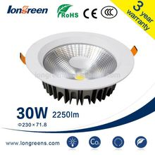 led spotlight 30W Rectangle Three Heads Cob Led Spot Downlights For Supermarket