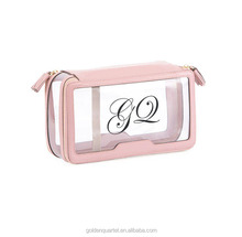 Promotion PVC clear cosmetic bags Small Zipper Bag for Cosmetics Travel Organizer Waterproof Zipper Toiletry Packaging Bag