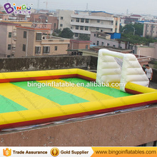 Giant 16 * 8 M Inflatable Soapy Football Stadium / Play Football Game for sale