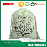 durable drawstring cloth cotton bags with logo