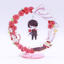 The best selling standee printed custom acrylic keychain stand with double sides and transparency