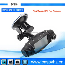 140 Degree Front front car camera And Rear Camera 120 degree Car DVR Separate Dual Lens car DVR for driving record