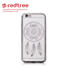 [E-redtree]China mobile clear simple designs tpu case diamond custom housing for iphone 5 5c 5s 6s 7