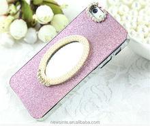 bling bling drill magic mirror case for iphone5/5s mirror shimmering powder case for iphone5