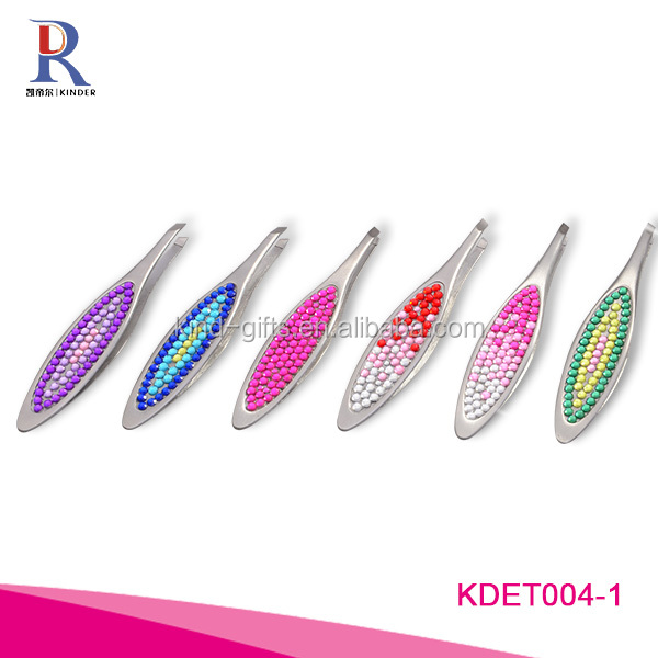 colorful lady design eyebrow tweezers, bling lady design tweezers