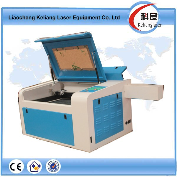 4060 small size co2 laser engraving machine for mobile phone case, silicone wristband KL-460 400*600MM