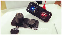 Motorcycle, ATV, Boat, RV, USB Weatherproof Power Socket - USB Charger with voltmeter (optional SAE to USB)