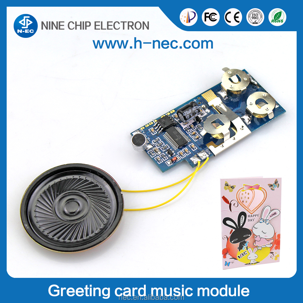 Programmable Musical Chips for Greeting Card, music chip for toys