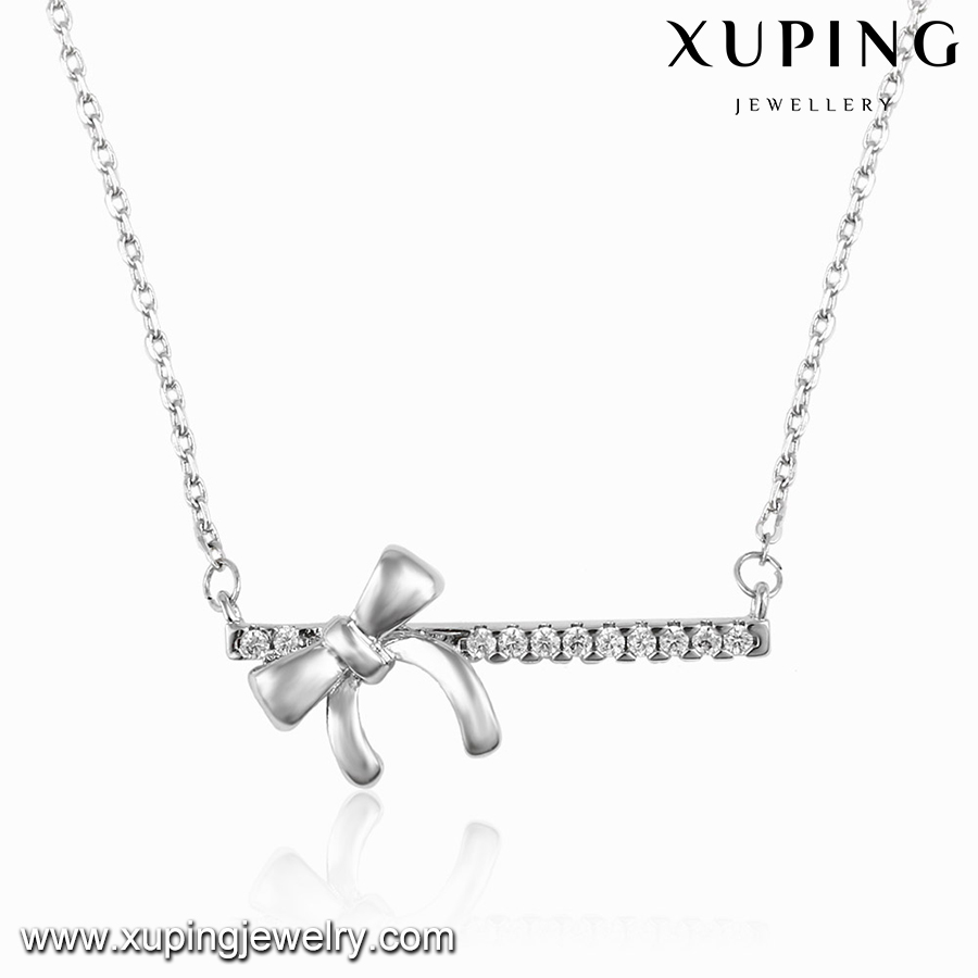 00112 XUPING 2016 fashion bowknot knot necklace,accessories for women necklace