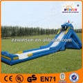 Giant steep inflatable water slide,Mega huge combo slides