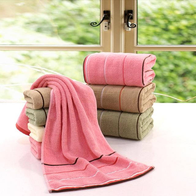 100% cotton stripe towel sets terry towel sets factory wholesale price