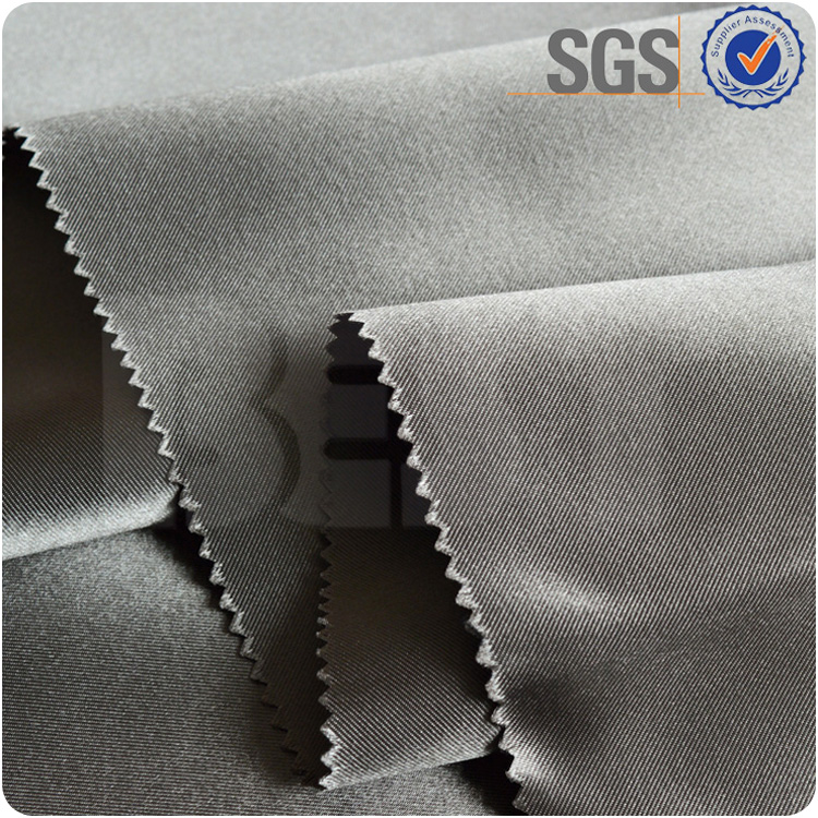 Fire retardant 2 pass coating blackout curtain polyester elastane fabric
