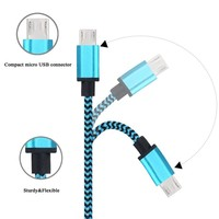 MFI certified 1m 8pin data cable braided sync charger cable