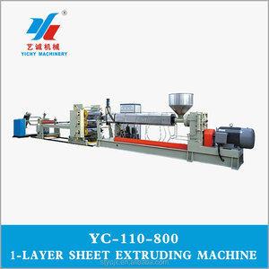 YC110-800 PP/PS Plastic Sheet Extruder