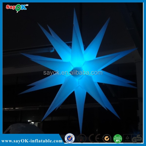 Night club/pub/event lighting decroative inflatable led star
