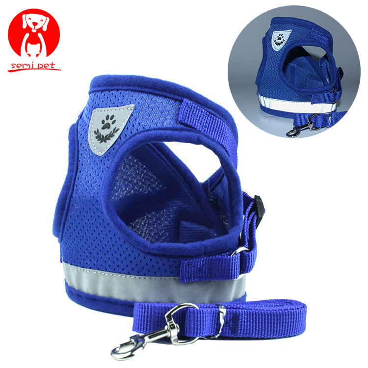 <strong>Dog</strong> Cat Harness Vest Reflective Walking Lead Leash for Puppy <strong>Dogs</strong> Polyester Mesh Harness for Small Medium <strong>Dog</strong> Pet Products
