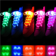 Led Light Luminous Shoelace Fashion Glowing Shoe laces Flashing Colored Neon Shoestrings chaussures led Party Laces 1 Pair