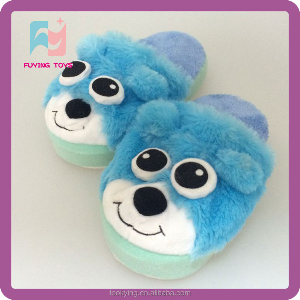 Winter warm plush soft cute animal slippers