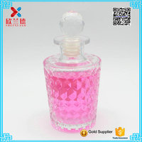 new products 150ml glass reed diffuser bottles with diamond ball corks