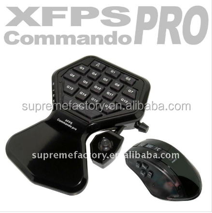 Black XFPS Shooting Game XCM Commando Pro Mouse Keyboard Controller For Playstation 3 PS3 XBox 360