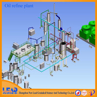 New Lead 3-200t/d energy saving soybean oil refinery machine, hot sale soybean oil refinery equipment, oil refinery for sale