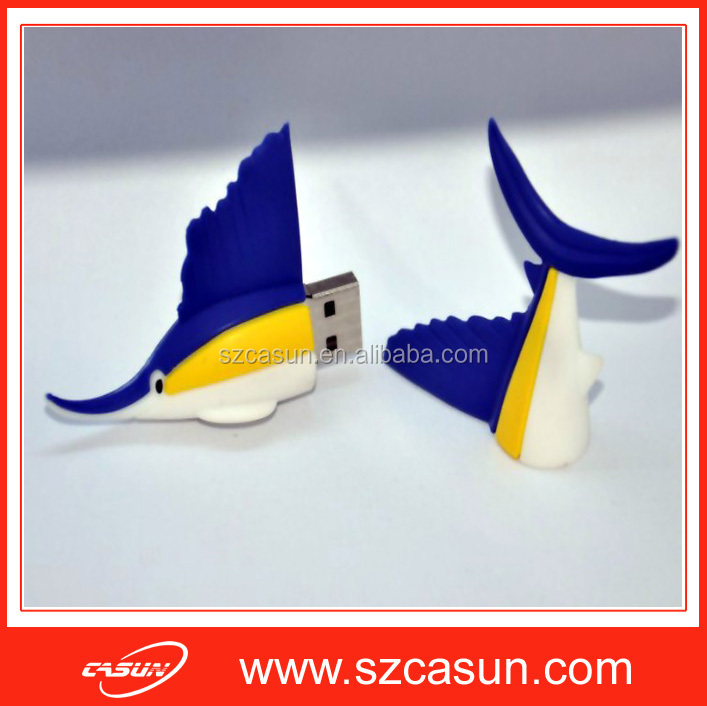 pvc shark usb flash drive, pvc usb key 4gb usb PVC, OEM PVC USB