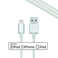 mobile accessories 1m white pvc mfi for iphone 5 usb cable, custom cable for phone for iphone