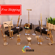 Free Shipping Hot Sale Mini Wind Instrument Stand Gift <strong>Craft</strong>
