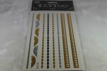 metallic gold temporary body tattoo sticker