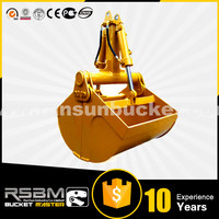 Promotion Price HARDOX500 NM400 excavator clamshell buckets for 1-80t excavator