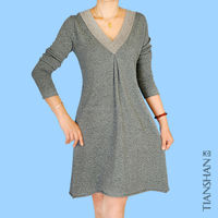 v neck cashmere dress