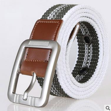 canvas material Korean factory latest new design casual woman/man belts