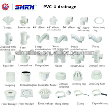 all types of pvc pipe fittings names for water discharge