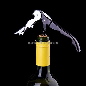 Hot Selling Sea Horse Wine Bottle Opener Black Color Corkscrew Kitchen Knife Beer Red Wine Opener For Wedding Party