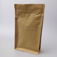 kraft paper stand up pouches food plastic bag