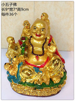 chinese lucky fengshui buddha statue 24K Golden color painting