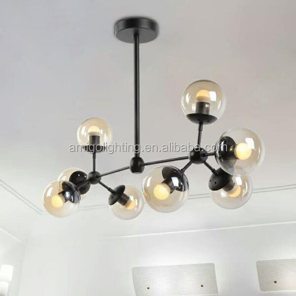 modern hanging led glass ball pendant light GB05-8
