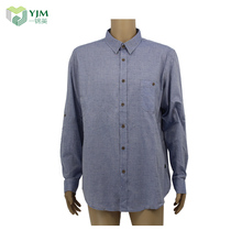 High Quality Blue Heavy Cotton Flannel Corner Shirt Shirts Elegant For Men