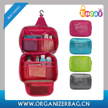 Encai New Style Printing Travel Hanging Toiletry Kits Waterproof Toiletry Bags With Mesh Compartment