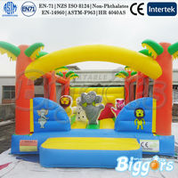 Jungle Animals Bounce House Combo Inflatable Bouncy Obstacle Inflatable Bouncer For Kid